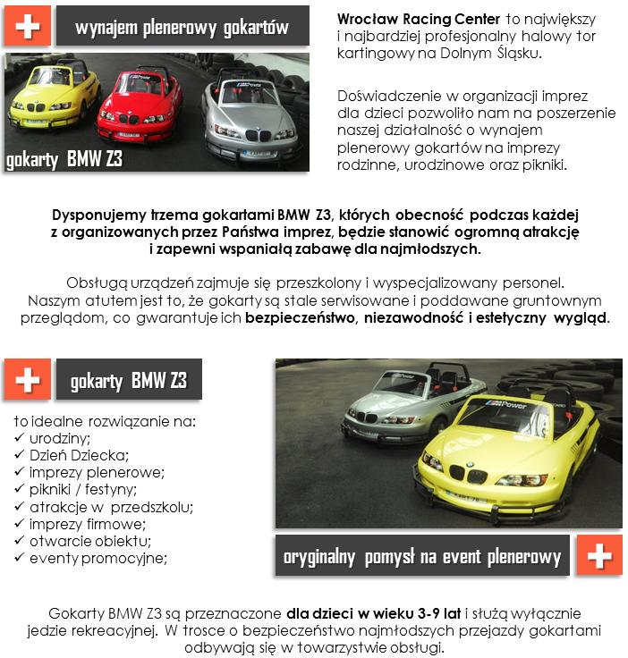 gokarty BMW Z3 - wynajem plenerowy